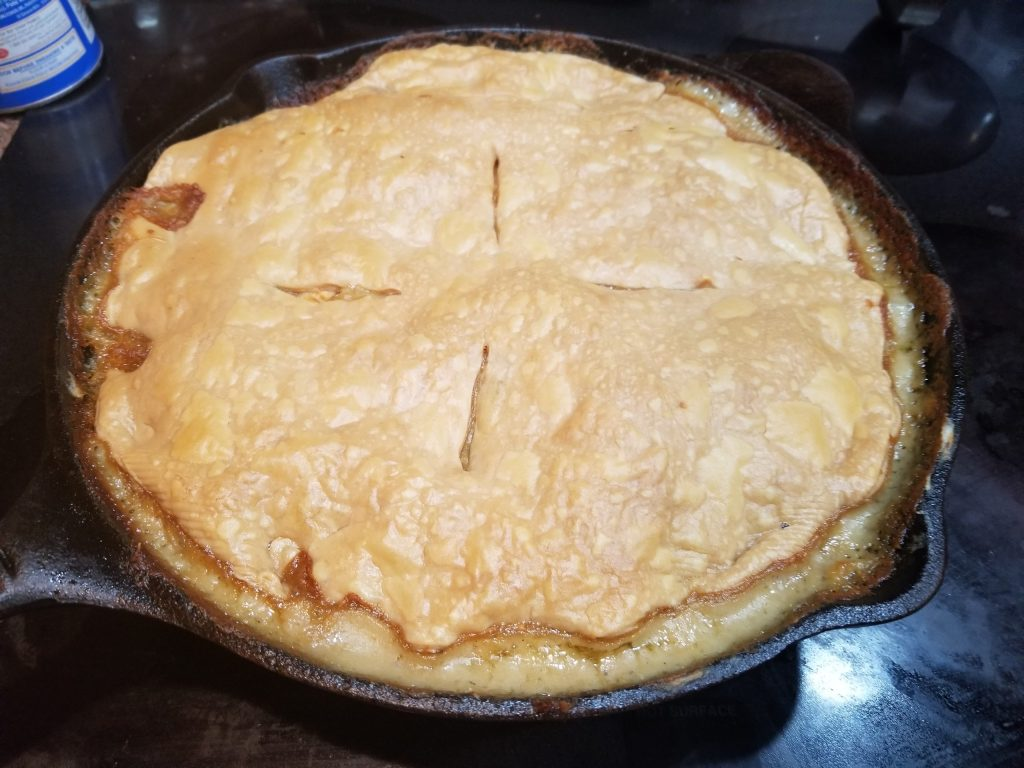 Chicken pot pie is best when made with leftover rotisserie chicken.