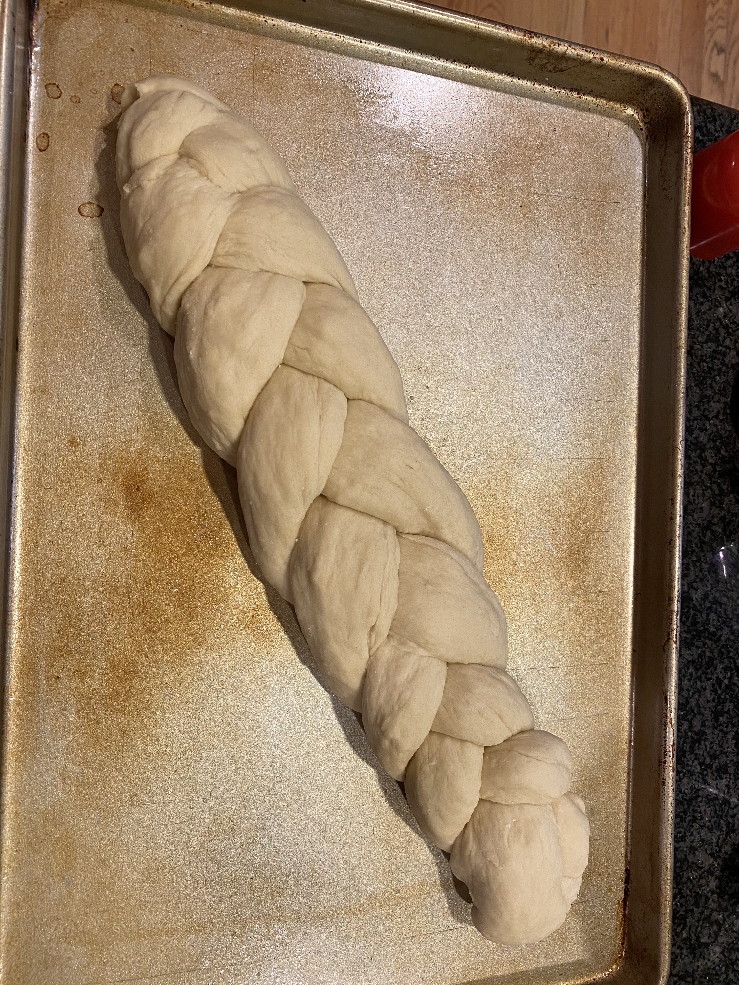 This is how you make challah bread braid.