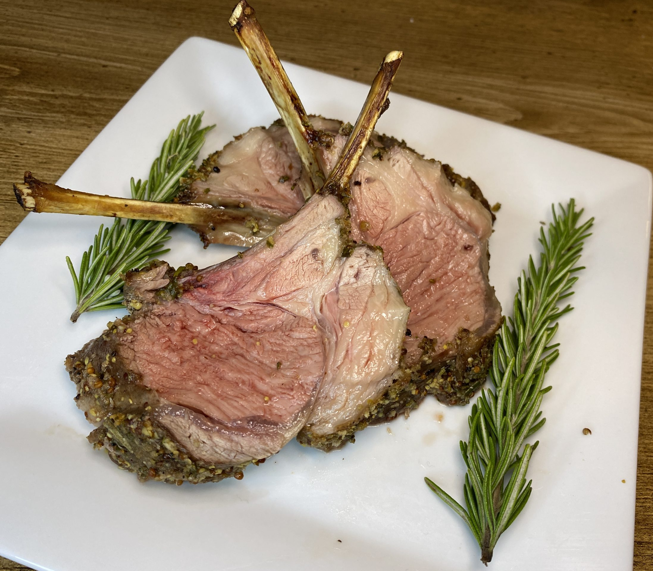 This herb-crusted rack of lamb is a hit with loved ones.