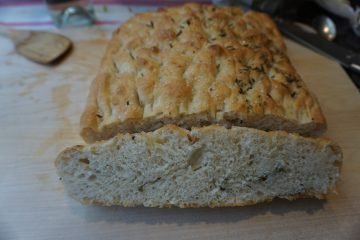 No-Knead rosemary focaccia bread is easy to make.