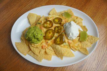 chicken nachos for an easy Friday night dinner.