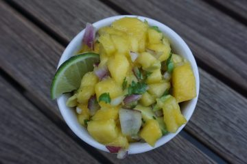 5-ingredient mango salsa is fresh and easy to make.
