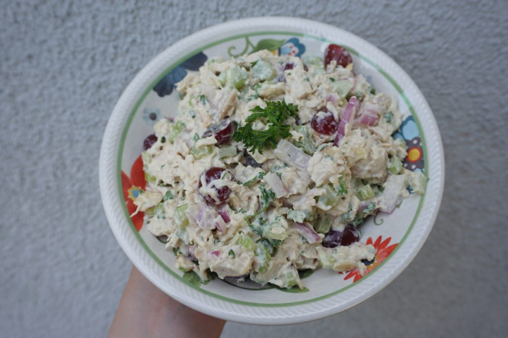 This is the best chicken salad recipe I've ever tried. It has a little bit of everything in it.