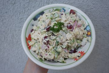 This is the best chicken salad. It has a little bit of everything.