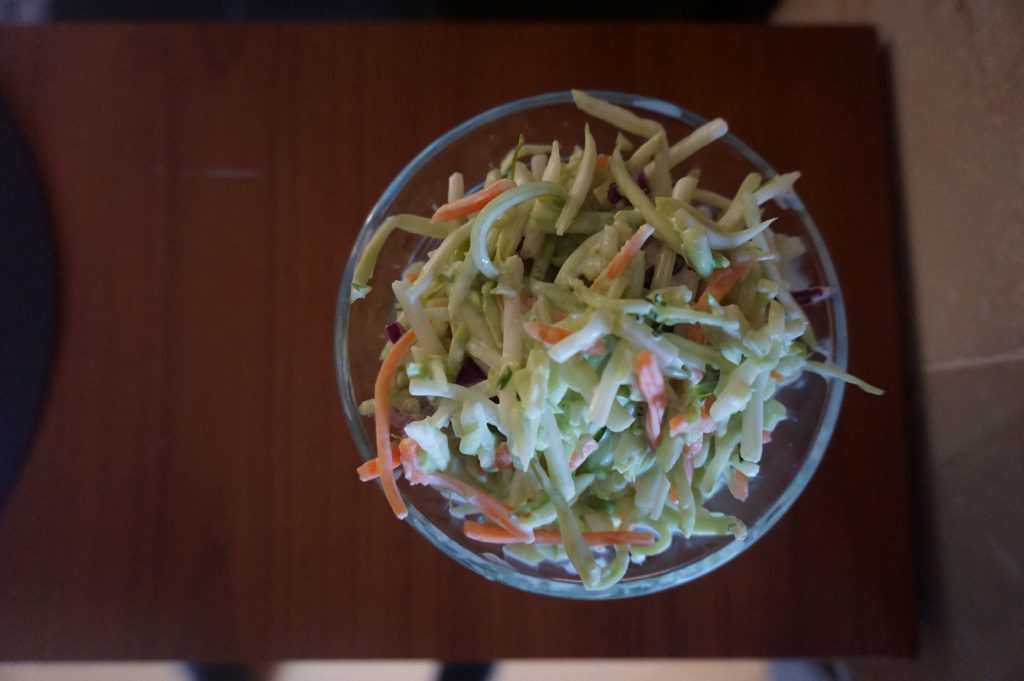This standard coleslaw recipe is great served to a group or just your family.