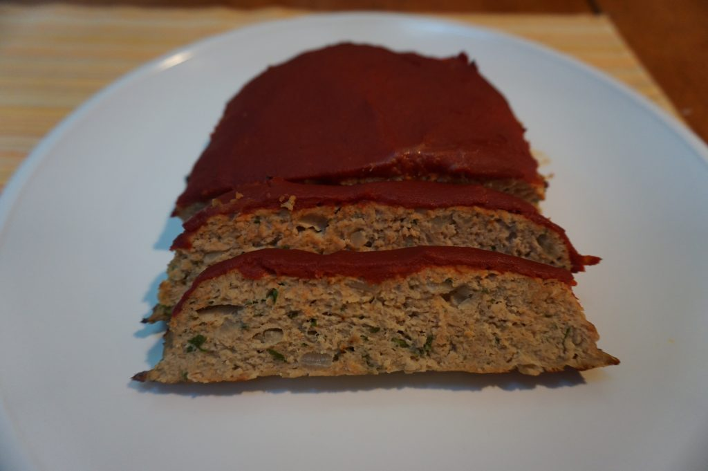 This healthy turkey meatloaf slices easily after letting it rest for a couple of minutes.