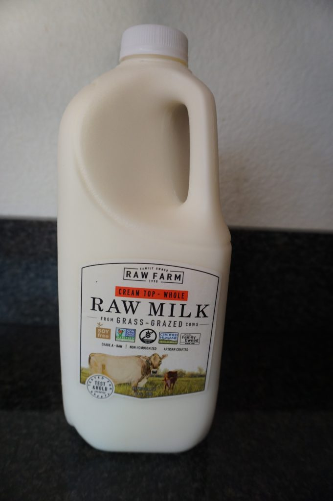 Use raw milk for homemade ricotta