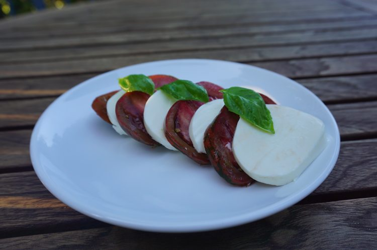 Caprese salad is simple and easy to make!