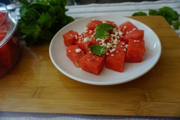 watermelon feta salad is easy to make