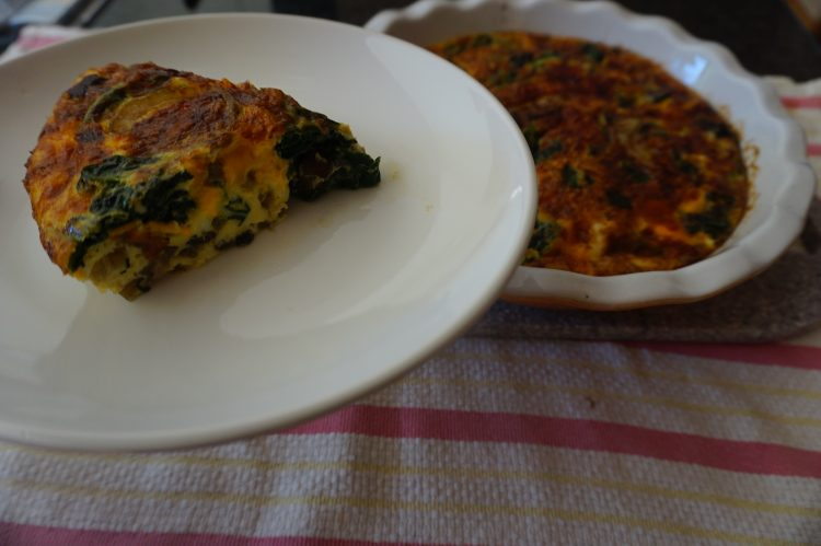 The caramelized onion frittata is an easy dish to whip up.