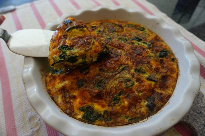 Spinach and Caramelized Onion Fritatta
