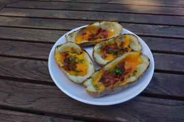 Crispy potato skins are easy to make in the oven.