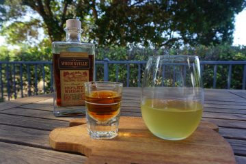 The pickleback shot is a shot of whiskey and a shot of pickle juice.