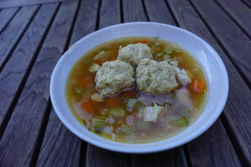 Matzo ball soup is delicious and easy to make.