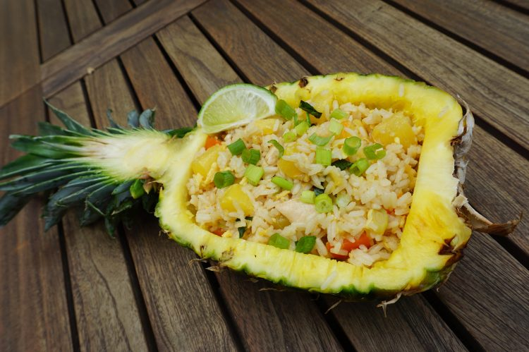 Thai pineapple fried rice is an easy recipe to whip up.