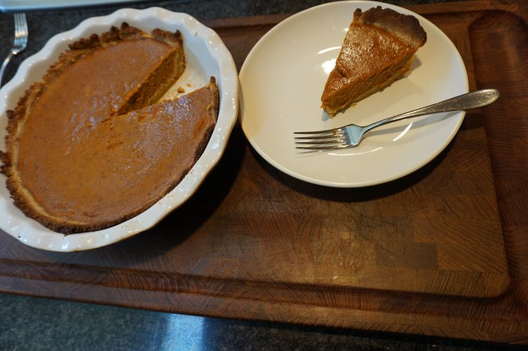 This keto pumpkin pie is not much different than your standard holiday pumpkin pie.