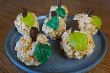 Halloween popcorn balls are fun and easy to make.