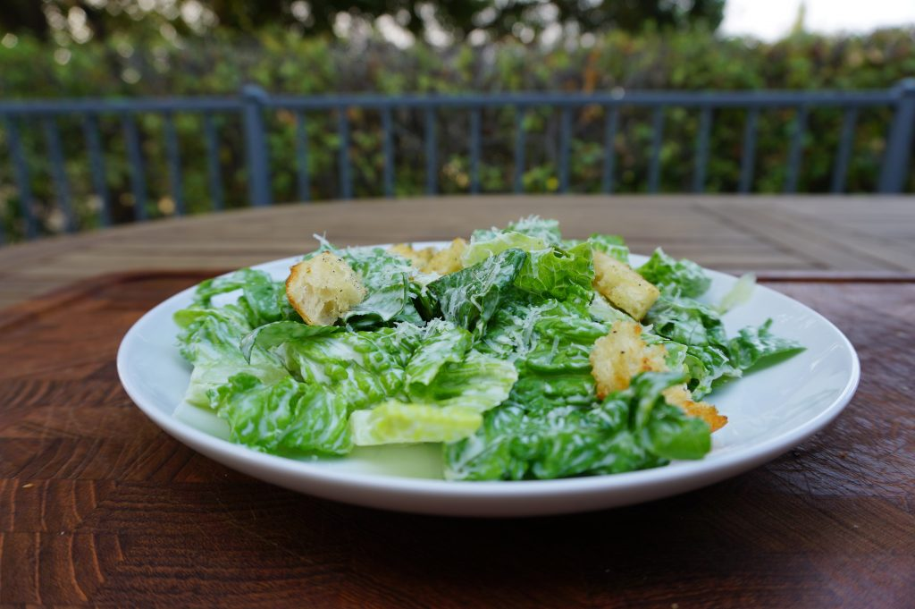 This chicken caesar is an easy way to use up leftover chicken.