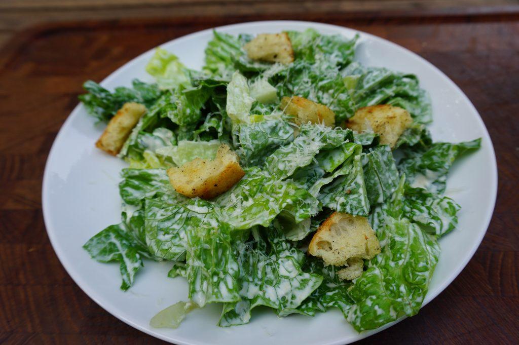 Caesar dressing is often used for Caesar salad.