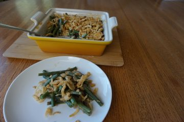 This green bean casserole recipe is easy to make ahead of time for the holidays.